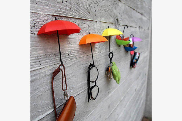Colorful Umbrella Wall Hooks (Set of 3) - Phonebibi