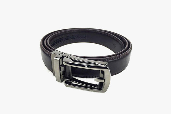 Click Comfort Hard Leather Belt - Phonebibi