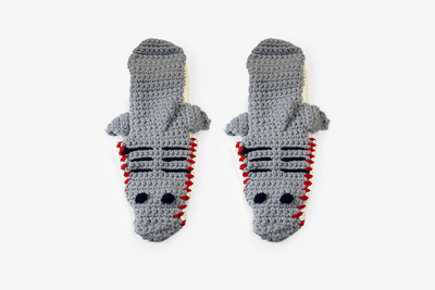 Shark Crocheted Indoor Shoes