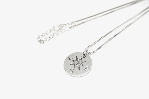 Premium Double Sided Silver 'Wanderer' Necklace