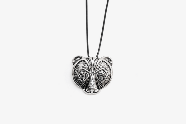 Angry Bear Amulet Necklace