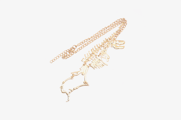 T-Rex Gold Necklace