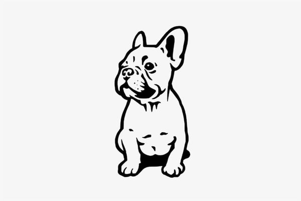 Funny Bulldog Wall Sticker - Phonebibi