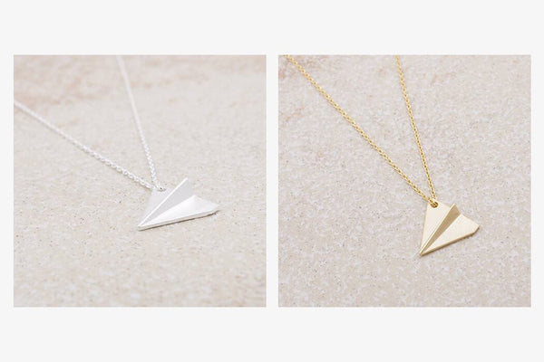 Retro Airplane Necklace