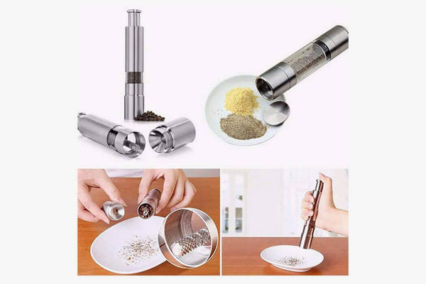 One Handed Click and Grind Spice Mill