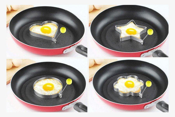 Stainless Steel Fried Egg Mold (Set for 4)