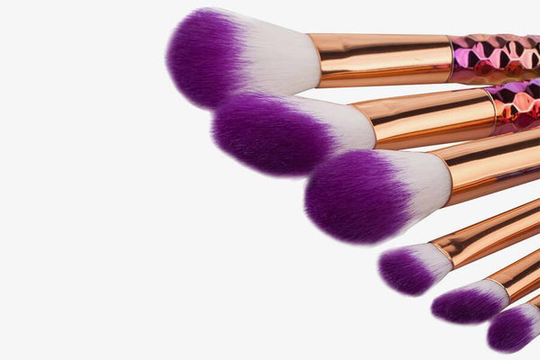 Unicorn Style Makeup Brushes