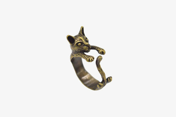 Popular Handmade Vintage Cat Rings