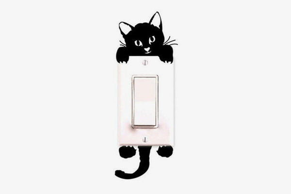 Cute Cat Switch Wall Sticker - Phonebibi