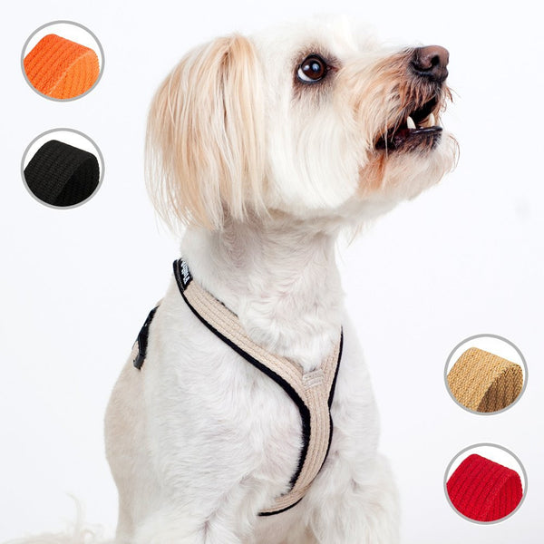Cotton No Pull Harness For Extra Small, Small and Medium Dogs