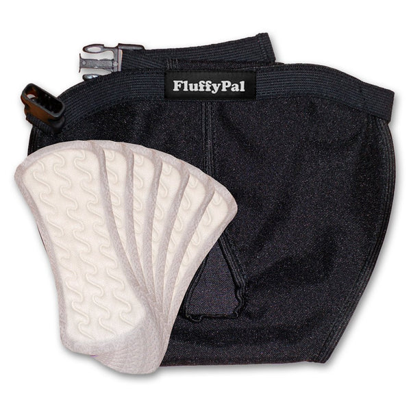 Dog Diapers - 5 Standard Disposable Panty Liners Included
