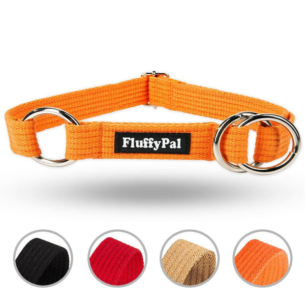 Cotton Half Choke Dog Collar For Small, Medium and Large Dogs