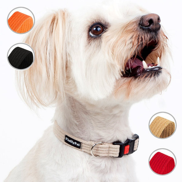 Cotton Dog Collar For Small, Medium and Large Dogs