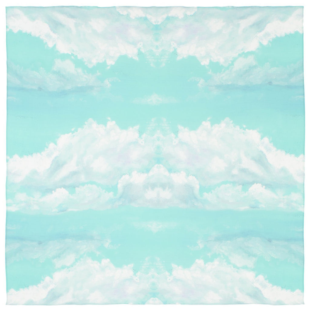 Mint Sky Silk Scarf
