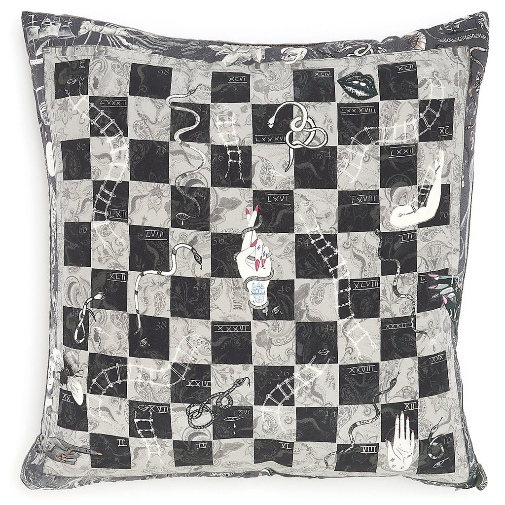 Snakes and Ladders Cushion
