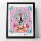 Black Madonna on Pink Art Print