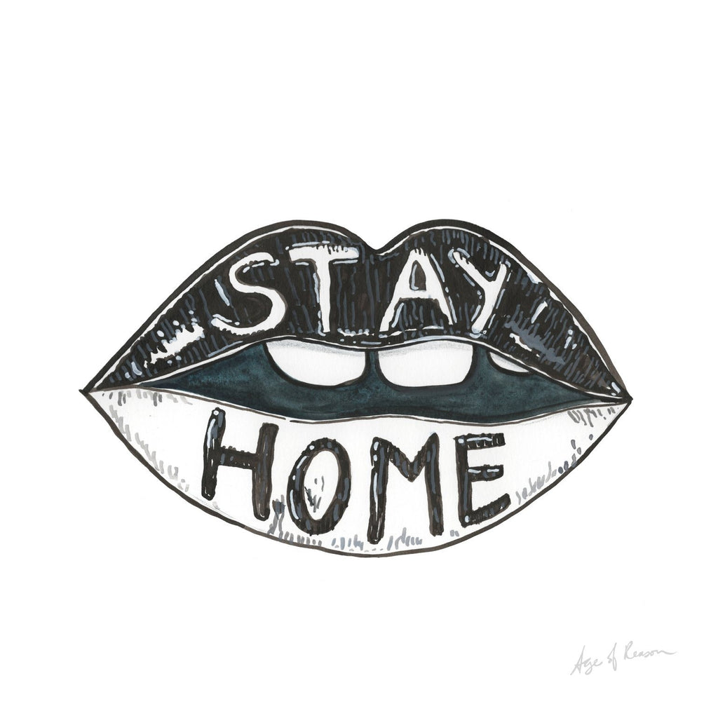 STAY HOME ART PRINT
