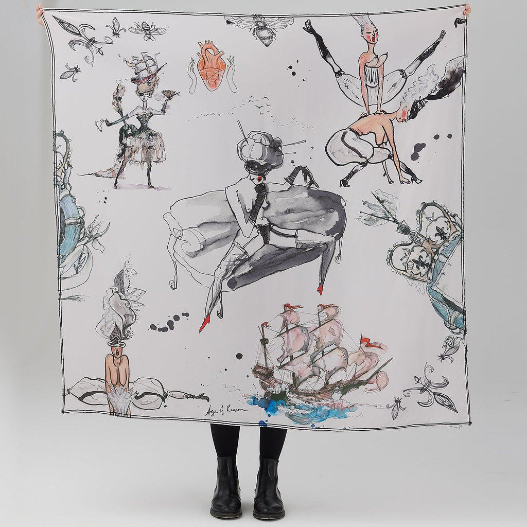 Sitting Pretty Silk Scarf