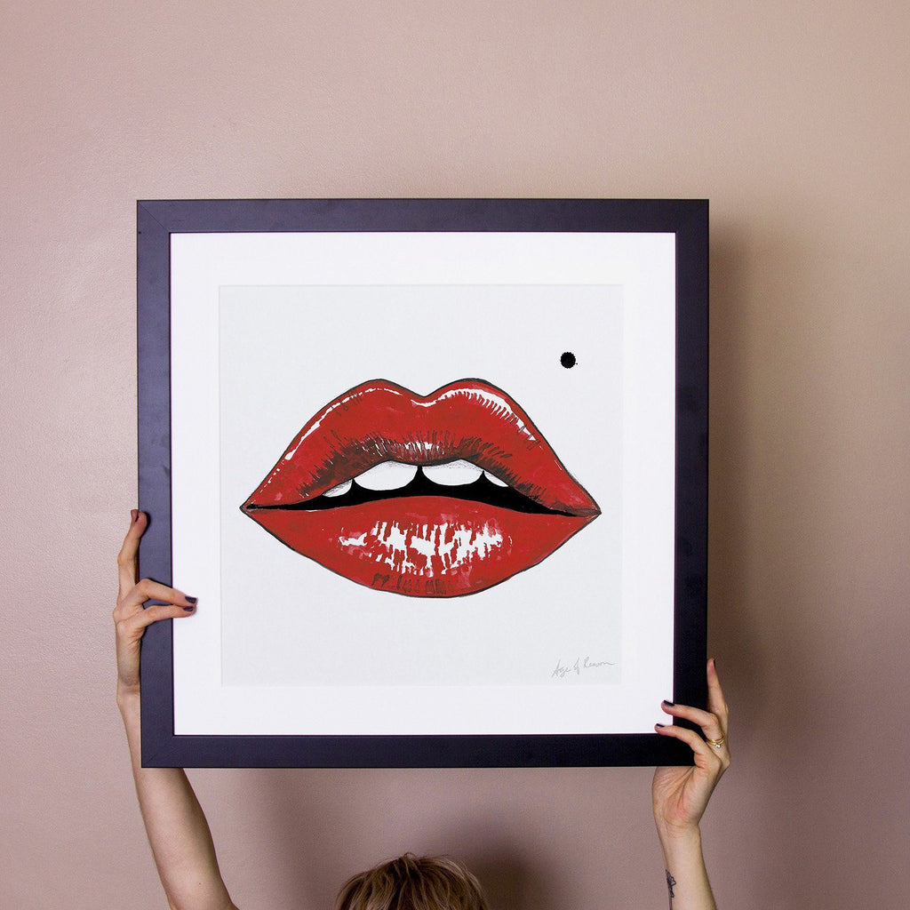 Marylin Lips Art Print