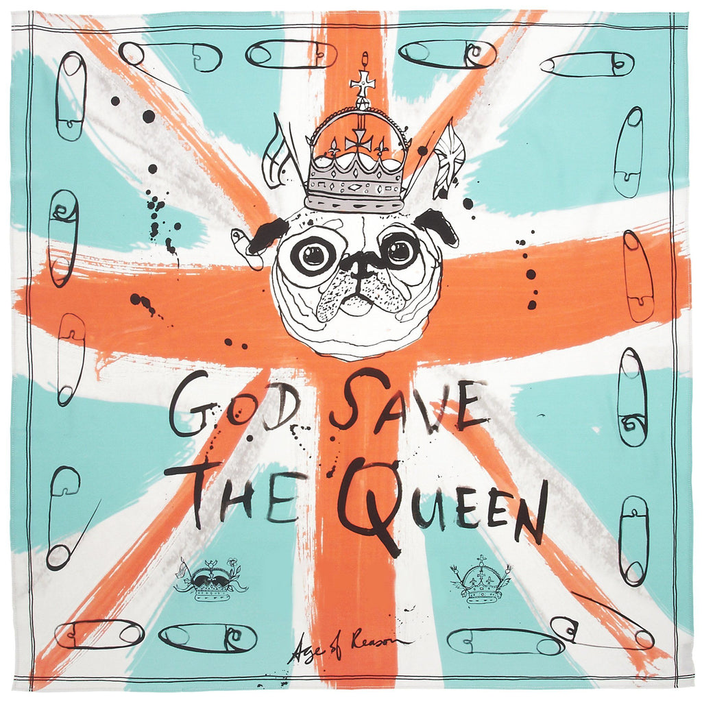 God Save The Queen Pocket Square