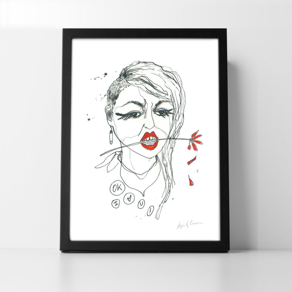 Punk Girl Art Print