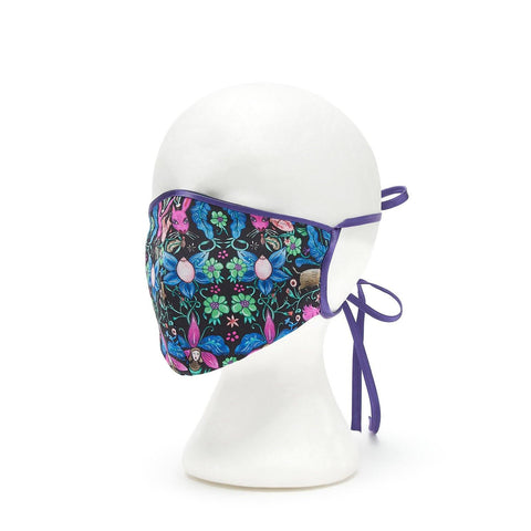 Silk Face Cover - Shaped Iris Print