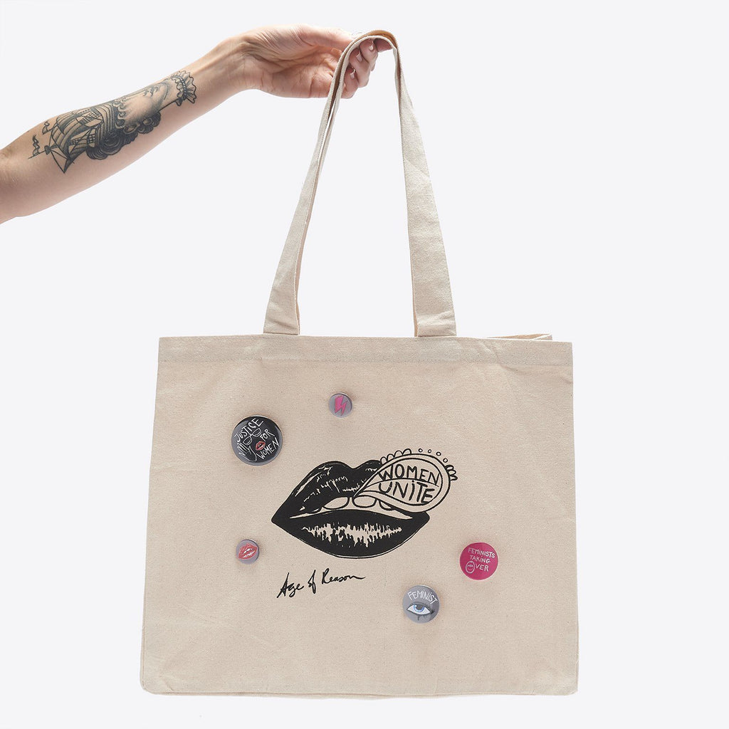 Women Unite - Canvas Shopper with Badges