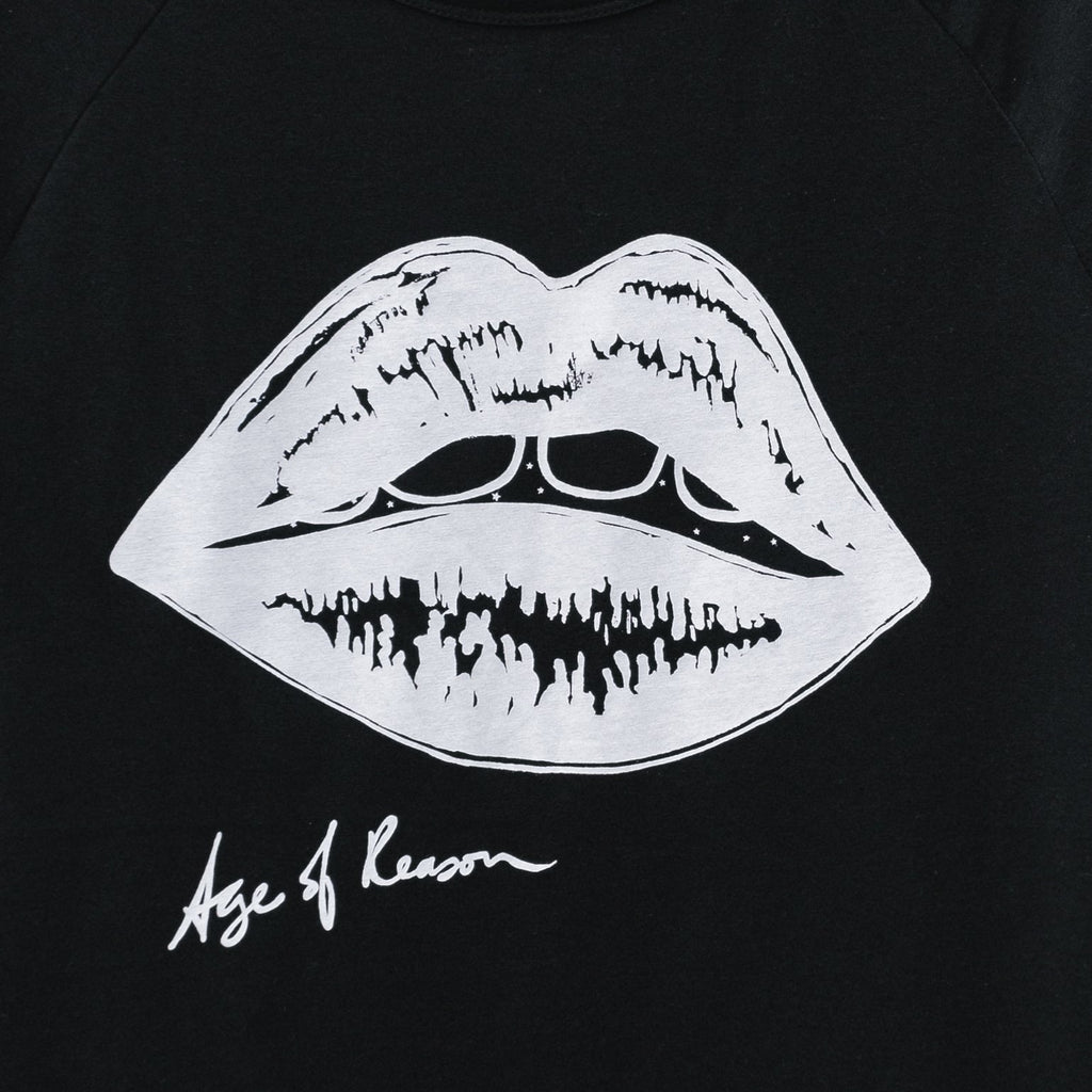 Iconic Lips Tee - White on Black