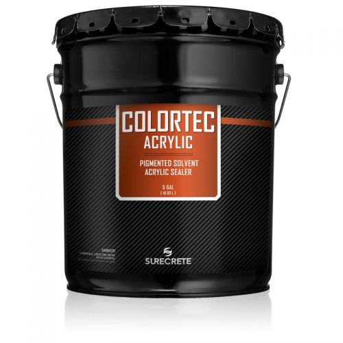 Concrete Colored Sealer, Surecrete COLORTEC Solvent Based Pigmented Acrylic