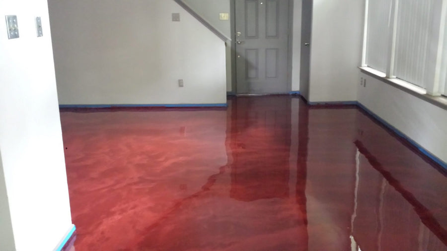 Surecrete 3D Metallic Epoxy Floor System, Pearl Mix-in