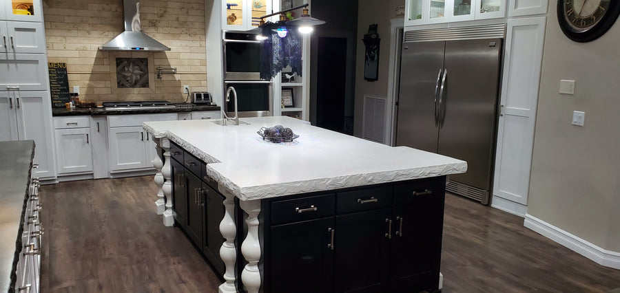 White Concrete Countertop Mix