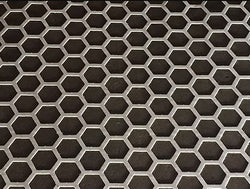 "Concrete Paper Stencil - Safety Grid 2"" Hex"