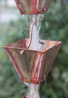 Rain Chain Medium Square Cups - Copper