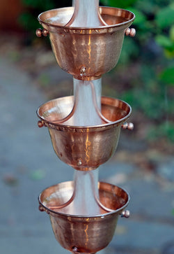 Rain Chain Copper Bell Cups