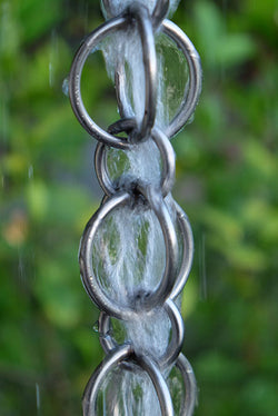 Rain Chain Double Loops - Stainless Steel