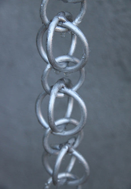 Rain Chain Double Loops - Aluminum