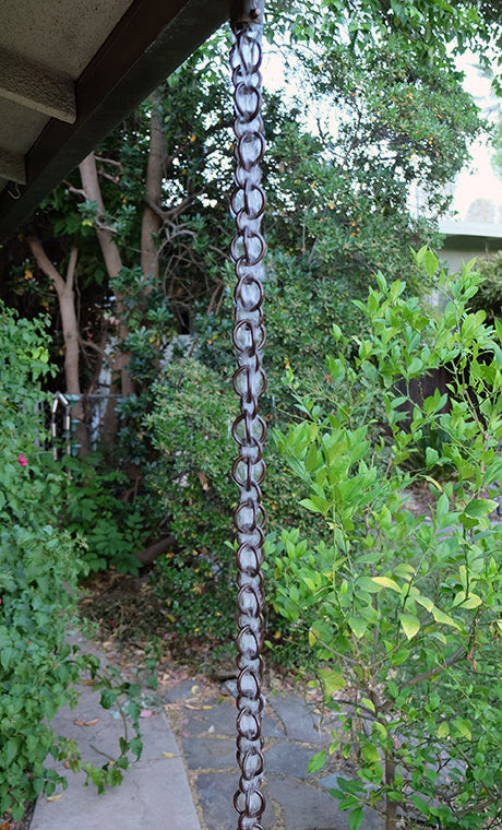 Rain Chain Double Loops - Bronze Aluminum