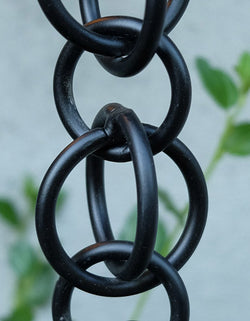 Rain Chain Double Loops - Black Aluminum