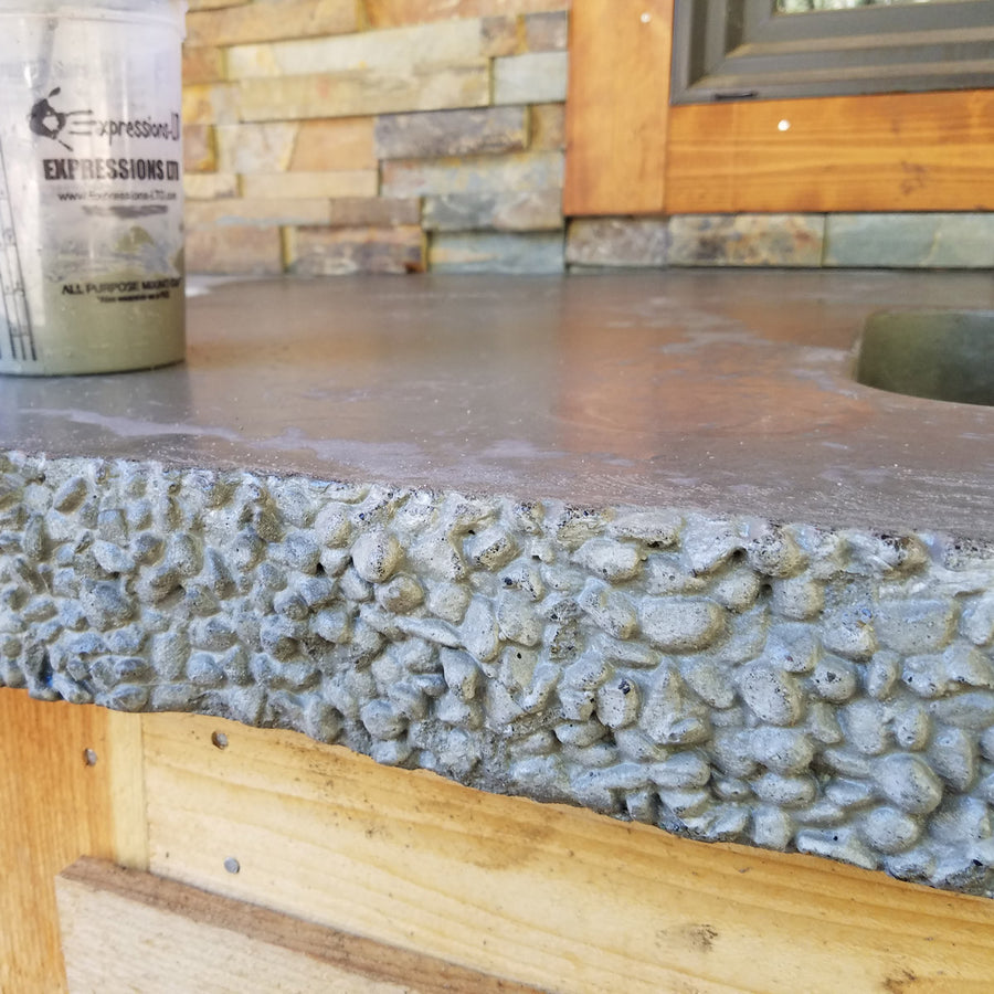 "Concrete Edge Form Liner - 3"" Pebble Stones"