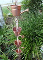 Rain Chain Copper Watering Can