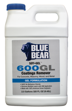 Concrete Epoxy Paint Sealer Stripper, Eco-Friendly Soy Gel 600GL