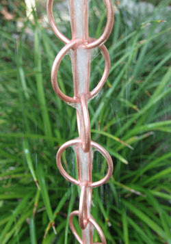 Rain Chain Copper Zen Loops