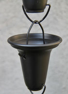 Rain Chain Flared Cup - Aluminum, Black