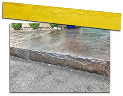 "Concrete Step Insert Form Liner - 7.25"" Chiseled Slate"