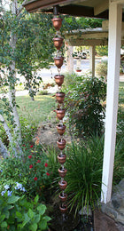Rain Chain Acorn Copper Cups