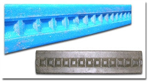"Concrete Edge Form Liner - 2"" Craftsman Dentil"