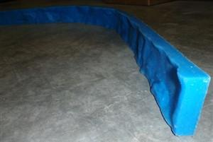 "Concrete Edge Form Liner - 3"" Rough Rock Granite"