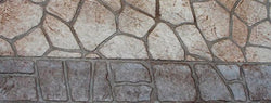 Concrete Stencil Border Header - Bushrock