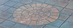 Concrete Stencil Accent - Small Brick Rosette