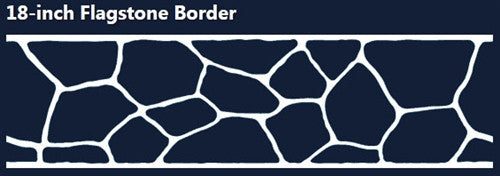 Concrete Stencil Border Header - Flagstone